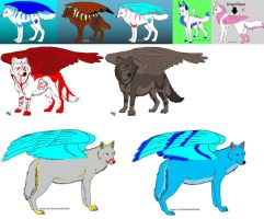 My wing wolf pack by liongirl2289