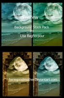 Beach  Background Stock Pack by FairieGoodMother