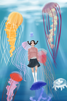 Princess Jellyfish by singingcatartist12