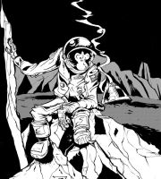 Space chimp by ZenandGroove