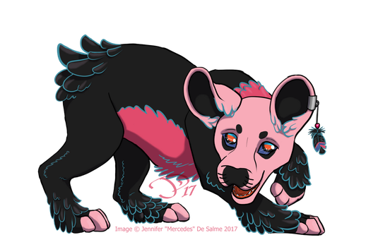 Pink and playful! (Jozza, gift art) by jmercedesd