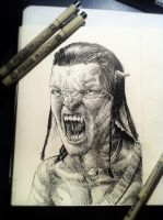 Sketchbook #10: Jake Sully (A V A T A R) by MonoFlax