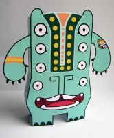 Big Mouth Boris Paper Toy by creaturekebab