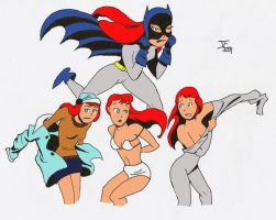 Batgirl changing collage by Jeherrin