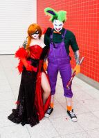 London Super Comicon 2015 87 - Harley and Joker by cosmicnut