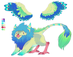 Peacock Griff - Auction - [Closed] by RainbowLuvAdopts