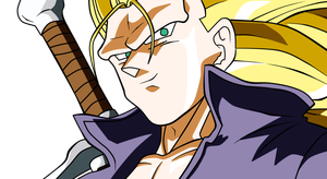 Dragonball Heroes - ssj3 Trunks by Wadanoharem