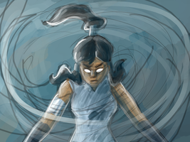 Korra WIP by Morgan-Michele