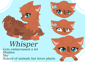 OC Whisper Reference  by cutebluemoon