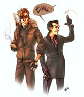 Jim Moriarty and Sebastian Moran by Psyche-Evan