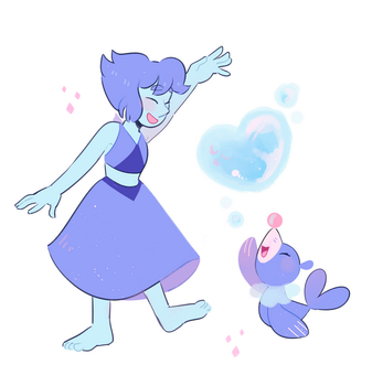 Lapis And Popplio by ieafy