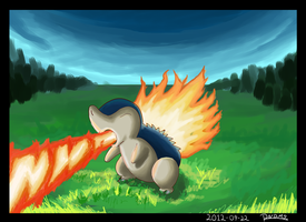 Cyndaquil by Randomous