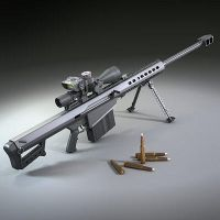 Barrett 50cal. Sniper Rifle by lucariofan666