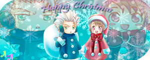 Happy Xmas Hitsugaya and Hinamori by AllenWalkerHinamori
