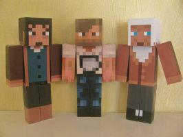Minecraft Papercrafts - Amnesia and PewDiePie by x0xChelseax0x