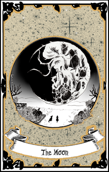 Tarot | XVIII - The Moon by LittleGoa-t