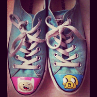 Adventure Time! Shoes by sparklypoodle
