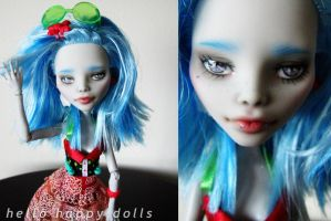 Monster high ghoulia repaint 2 by hellohappycrafts