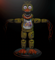 Withered (and unwithered) Chica 2.0! by GaboCOart