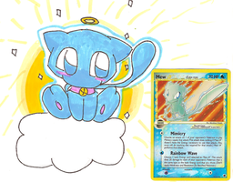 my shiny mew card and chibi by MysteriousMew