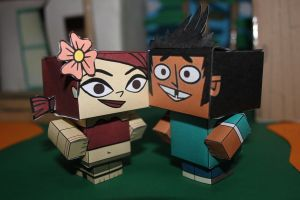 Mike and Zoey TDROTI Papercrafts by ViluVector