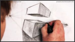 How to draw two point perspective 026 by drawingcourse