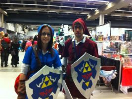 Blue Link and Red Link - Otakuthon 2013 by J25TheArcKing