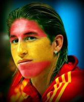 Face-Painted Sergio Ramos by lightazland77