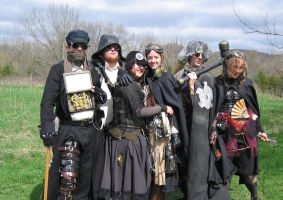 Steampunk Cosplay Group II by BlameTheEconomy