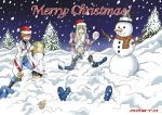Ameto and friends (Christmas Card) by Rael-Mochizuki