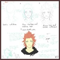 how I draw Axel.. -request- by oOo-KupoCoffee-oOo