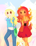 Fio, Flame, and Cake by piketta