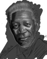 Familiar Faces 4/100 - Morgan Freeman by NoxPsycho