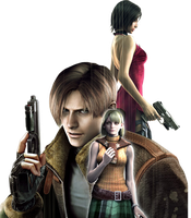 Leon, Ada and Ashley - Render by snakeff7