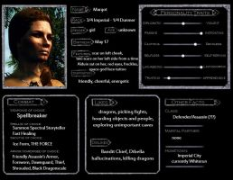 Skyrim Character Template - Margot by spaceskeleton