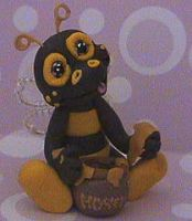 polymer clay bee beatriz by crazylittlecritters