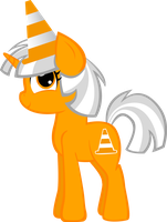 Traffic Cone Pony by KimikoNyanChan