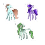 Minty Flare X Saphya Blue adoptables by Two-broke-fangirls