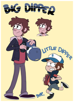Dipper Pines, Big-N-Little COLOR by PumpkinHipHop