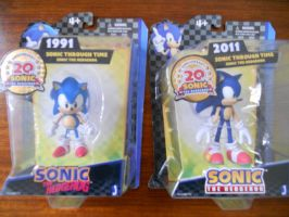 "Sonic Through Time 5"" Figures by BoomSonic514"