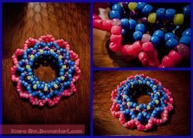 Kandi Colorful 3D Cuff I by Kiara-Ann