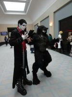 Real Werewolf and Vampire by SilverWolfCostuming