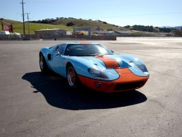 Ford GT40 Gulf Laguna Seca by Partywave