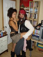 Captain Jack and Pirate Wench by RadPencils