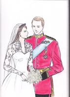 William and Kate coloured by acinonyx--jubatus