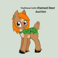 [Auction]  Traditional Celtic Deer Pony [Closed] by Neoceltia