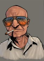 old cigarette man COLOR by slur