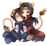 -- Chibi couple Commission 1 : ItaSasu -- by Kurama-chan