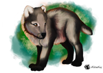 wolf pup by Alextiy