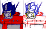 Optimus Prime Pen by JediKaputski